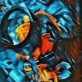Abstracción azul