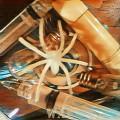 Araña luminosa... (Collage mixto)