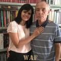 Eu e minha Esposa - Luísa Cardoso (25 anos de casamento - três Filhas. Um cantinho de nossa Biblioteca, com cerca de oito mil volumes.