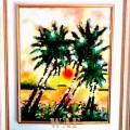 Elisabetta Errani Emaldi's work of art - Palms at sunset