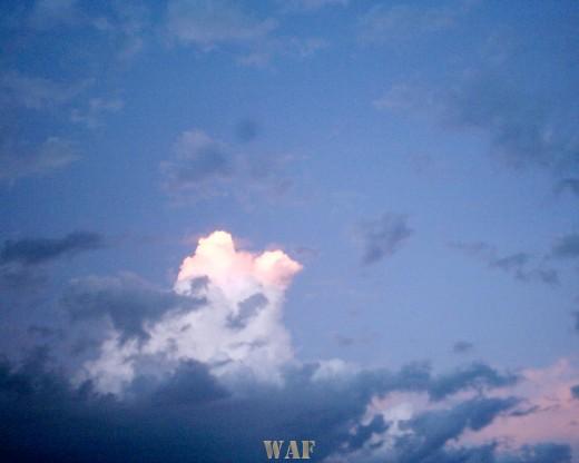 Céu ao anoitecer
