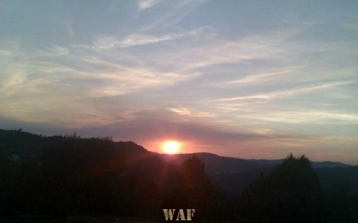 Sun set in Douro Valley