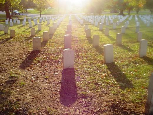 Arlington National Cemetery at sunset