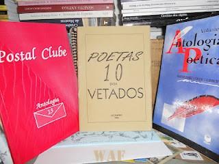 """Coletânea POETAS 10 ENGAVETADOS, Edicao dos Autores, 1995; EU com mais 9 """"aspirantes ao paraiso..."""""""