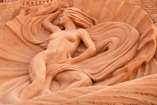 Busto de Mulher D´areia