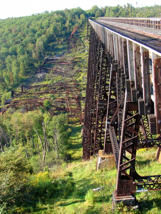The Kinzua bridge in Mount Jewett, PA (photographed 09/04/09), destroyed by a tornado in 2003