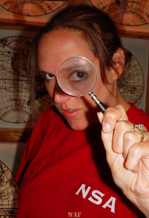 being watched by the NSA (with a magnifying glass)