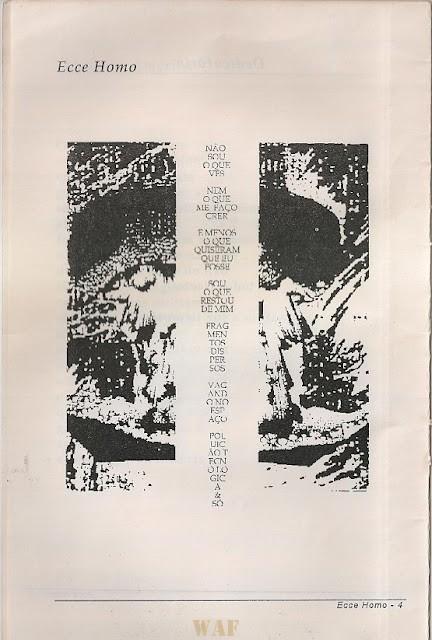 ECCE HOMO * POEMA POSTER, Edicao CURUPIRA 1996