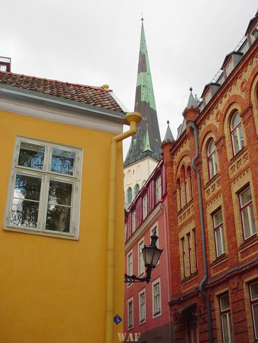 Tallinn (Estonia) buildings and a steeple