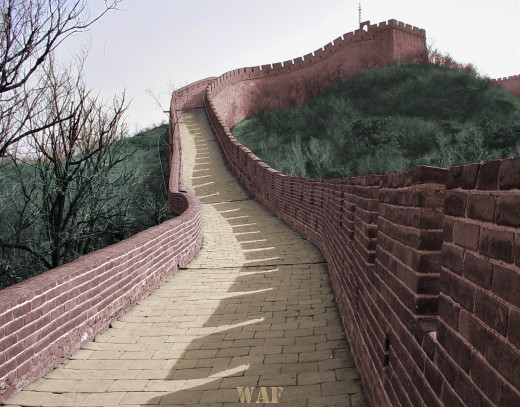 the Great Wall of China (photographed 60 miles outside of Beijing)