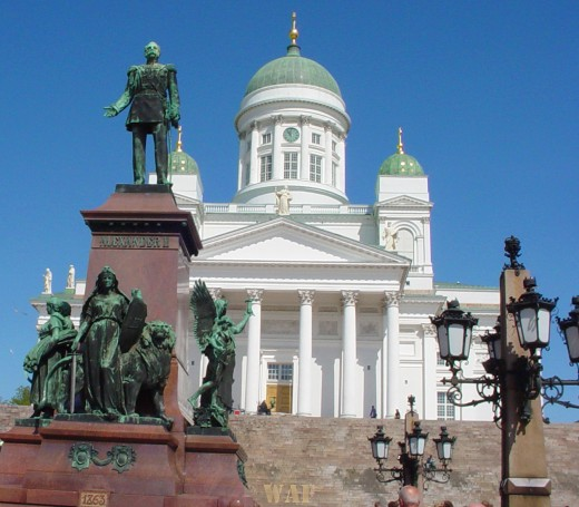 the Senate Square and Cathedral in Helsinki, Finland