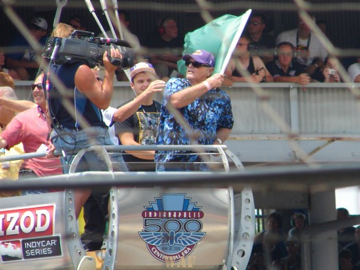 Jack Nicholson as the Honorary Starter at the Indy 500 on 05/30/10