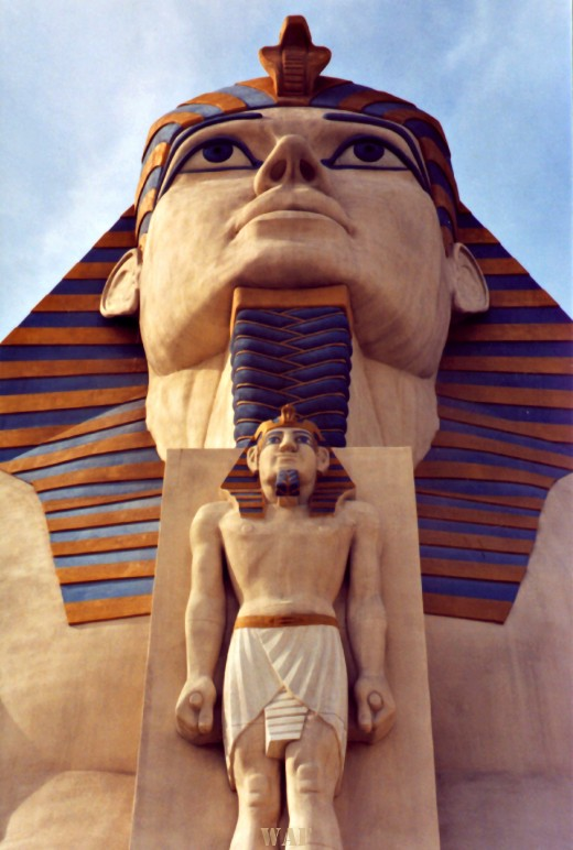 an Egyptian Monument in Las Vegas