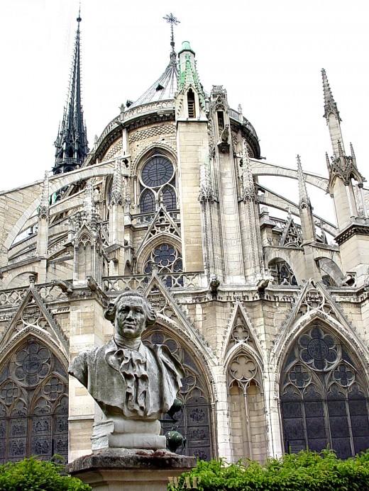 a view of the Notre Dame (Paris)