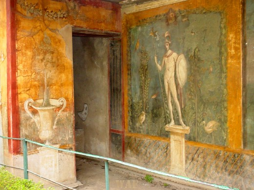 Ancient artwork in Pompeii, Italy that survived the Mt. Vesuvius 79 A.D. eruption