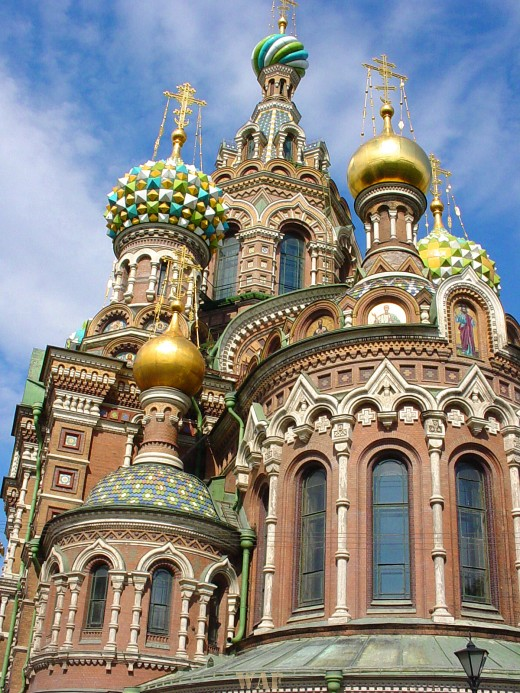 the Church of Our Savior on Spilled Blood in St. Petersburg Russia