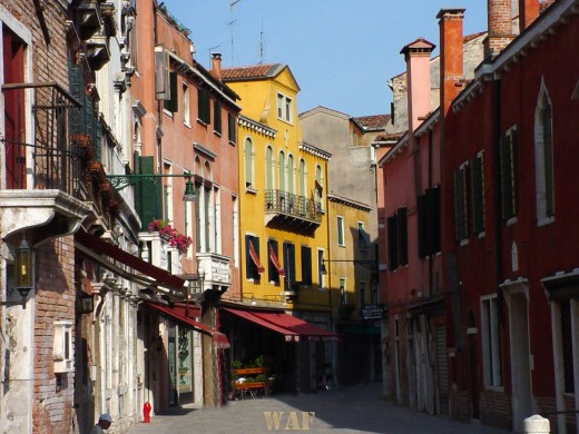 colorful buildings in Venice (Italy)