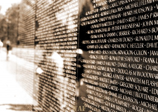 the Vietnam Veterans Memorial Wall (Washington D.C.)